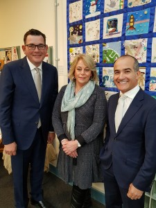 Linda with Premier & Minister of Ed
